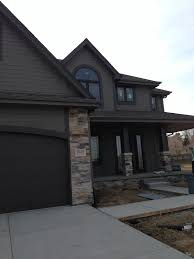 House With Black Trim Modern House Exterior Sherwin Williams Gauntlet Gray And Sherwin