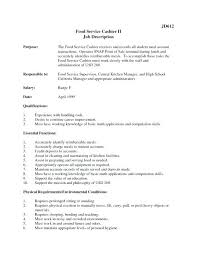 Cashier Job Description For Resume Stunning Cashier Duties For Resume Nmdnconference Example Resume And