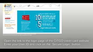 citgo credit card login in 2018