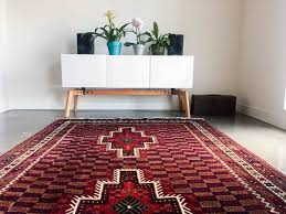 Red Living Room Rug 5x8 Vintage Persian Rug Bedroom Rug Area Rug Living Room Rug