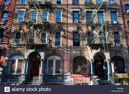 New York City Outside Metal Fire Escape Stairs Stock Photos  New - New york apartments outside
