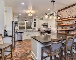 Brick Farmhouse Houzz. Farmhouse Kitchen ...