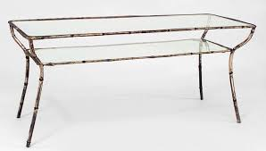 glasetal coffee tables for rectangular wrought iron coffee table with distressed antiqued gold leaf finish and glass