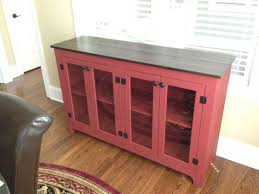 Painted Buffet Red Sideboard Large Buffet Credenza Throughout Red Buffet  Sideboard