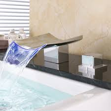 waterfall sink faucet. Exellent Waterfall Bathroom Faucet Waterfall LED Sink Water  Tap Temperature Controlled For E