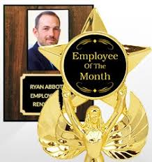Employee Of The Month Trophy Cheap Custom Trophies Make Your Own Trophy Dinn Trophy