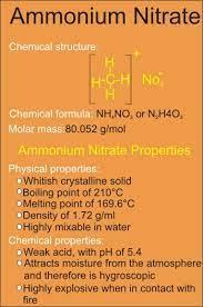ammonium nitrate hazards formula and