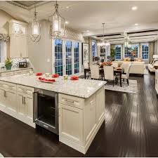 Small Open Plan Kitchen Living Room Design Pictures Remodel Open Concept Living Room Dining Room And Kitchen
