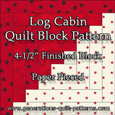 Easy Log Cabin Quilt Pattern: Paper Pieced to Perfection & Log Cabin quilt pattern, 4-1/2 Adamdwight.com