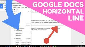 Google Docs Horizontal Line Insert In 15 Seconds