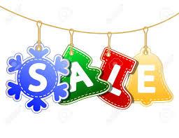Christmas Sale Tags On Christmas Signs Illustration Royalty Free