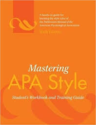 apa style front cover mastering apa style students workbook apa 8601400056509