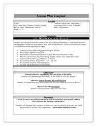 16 Printable Daily Lesson Plan Template Forms Fillable