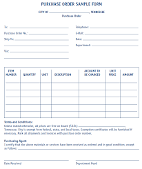 Purchase Order Forms Sample Purchase Order Form Sample Mtas
