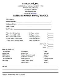 Catering Invoice Template Excel Stunning Free Menu Template Word Publisher Sample Catering Templates