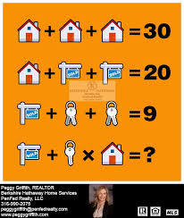 Here's a little math quiz for you! ;) - Peggy Griffith, Realtor Berkshire  Hathaway Home Services PenFed Realty | Facebook