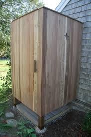 outdoor shower. Outdoor Shower Build Photo - 7