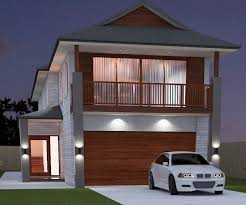 narrow 4 bed room house plan