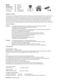 security guard cv samplesecurity guard resume template
