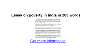 essay on poverty in in words google docs