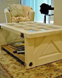 vintage door coffee table