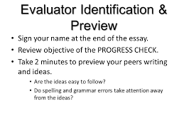 evaluator identification preview sign your at the end of  evaluator identification preview sign your at the end of the essay