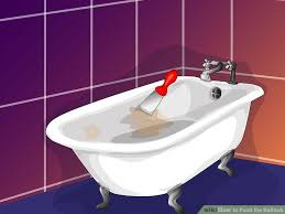 image titled paint the bathtub step 1
