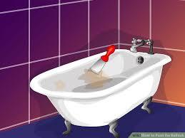 image titled paint the bathtub step 1