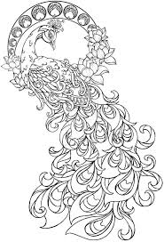 Small Picture Paisley Peacock Coloring Pages for Adults Printable Henna