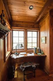 rustic home office desk. small rustic home office with live edge work desk and chair design matheny goldmon