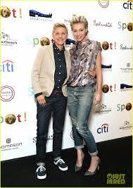 Ellen And Portia Ellen Degeneres Portia De Rossi Saving Spot Benefit Photo