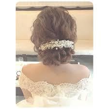 波ウェーブで可愛さアップゆるふわ系ヘアアレンジ50選 花嫁 髪型 ゆる