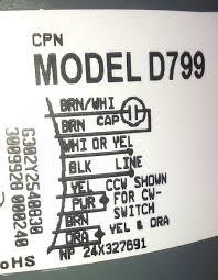 fasco d799 condenser fan motor connections? hvac diy chatroom fasco condenser fan motor wiring diagram at Fasco Fan Motor Wiring Diagram
