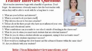 teaching interview questions tips video dailymotion 00 44
