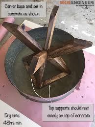 Build A Concrete Patio Concrete Patio Table Round