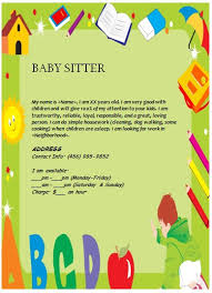 Babysitting Flyer Template Microsoft Word Free Babysitting Flyer Ideas Template Business