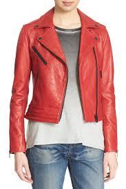 image of rag bone chrystie genuine leather moto jacket
