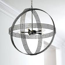 orb light chandelier banded orb 5 light chandelier designs home chandeliers orb light and orb chandelier