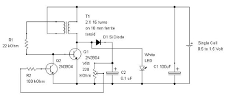 joule thief ultra simple control of light output 6 steps show all items the circuit diagram