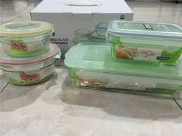 glasslock tempered glass food container 4 pc set