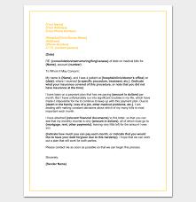 Sample Letter Of Credit Impressive Medical Hardship Letter Template Word DOC Sample Example Format