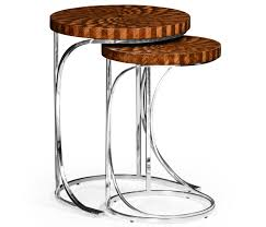 limited ion design 24 tall zebrano marquetry nesting table hospitality residential interior designer s available