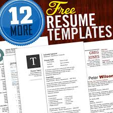 12 Resume Templates For Microsoft Word Free Download Cob Student