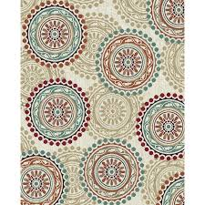 8 x 10 large ivory teal and red area rug brookwood rc willey furniture