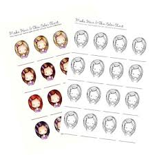 Copic Hair Color Chart Freebie Copic Hair And Skin Coloring Charts Stamping