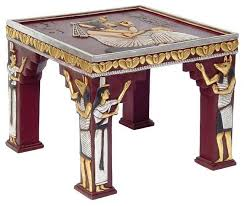 ancient egyptian sculptural ornamental collectible side table