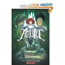 fourth book in the amulet graphic novel series for kids magic elves and robots