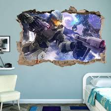 halo master chief 3 3d wall sticker