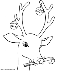 Christmas Rudolph Coloring Book Pages