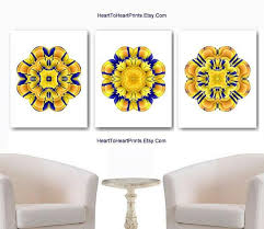 yellow wall art prints blue yellow wall